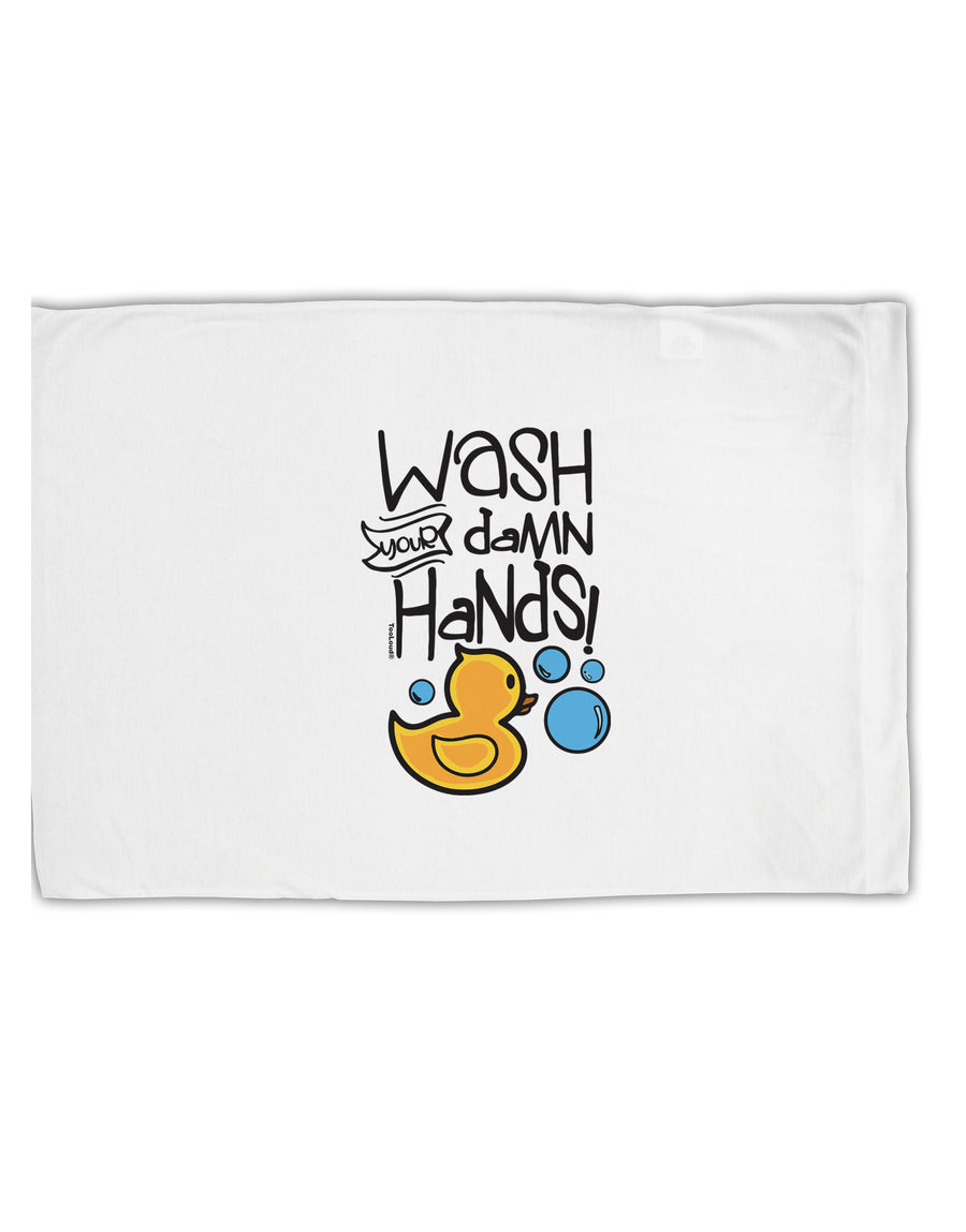 TooLoud Wash your Damn Hands Standard Size Polyester Pillow Case