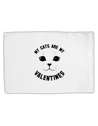 My Cats are my Valentines Standard Size Polyester Pillow Case by TooLoud