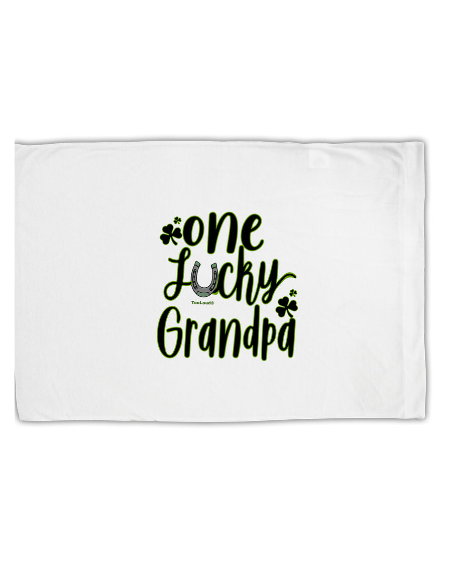 TooLoud One Lucky Grandpa Shamrock Standard Size Polyester Pillow Case