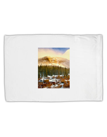 Nature Photography - Mountain Glow Standard Size Polyester Pillow Case by TooLoud