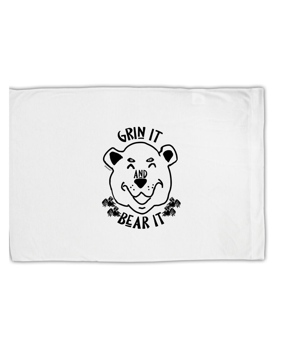 TooLoud Grin and bear it  Standard Size Polyester Pillow Case