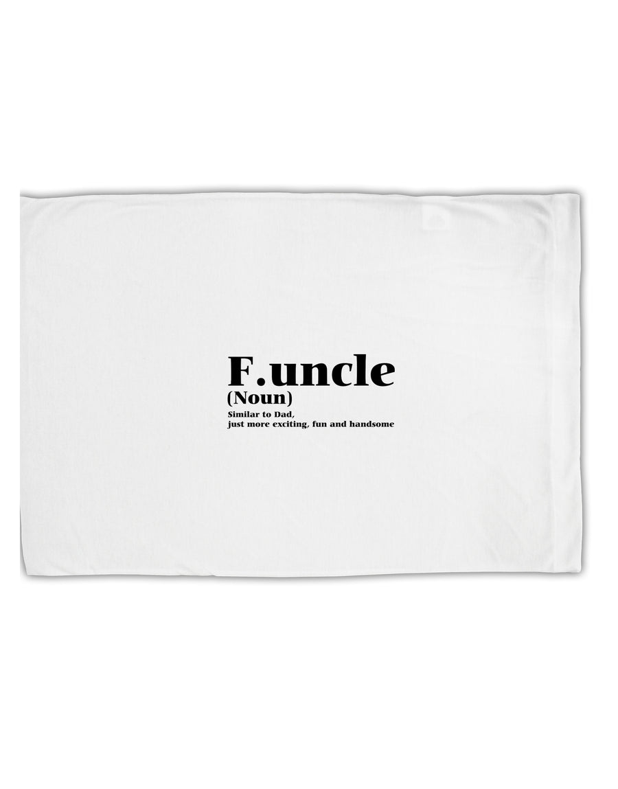 Funcle - Fun Uncle Standard Size Polyester Pillow Case by TooLoud