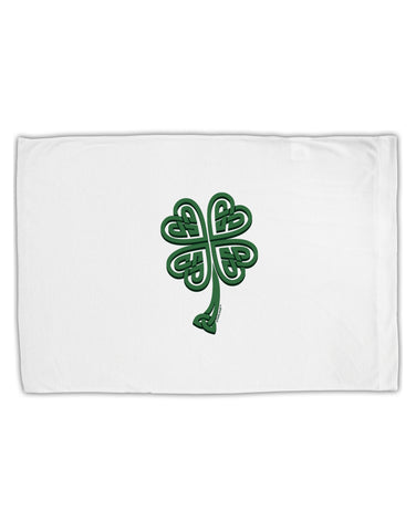 3D Style Celtic Knot 4 Leaf Clover Standard Size Polyester Pillow Case