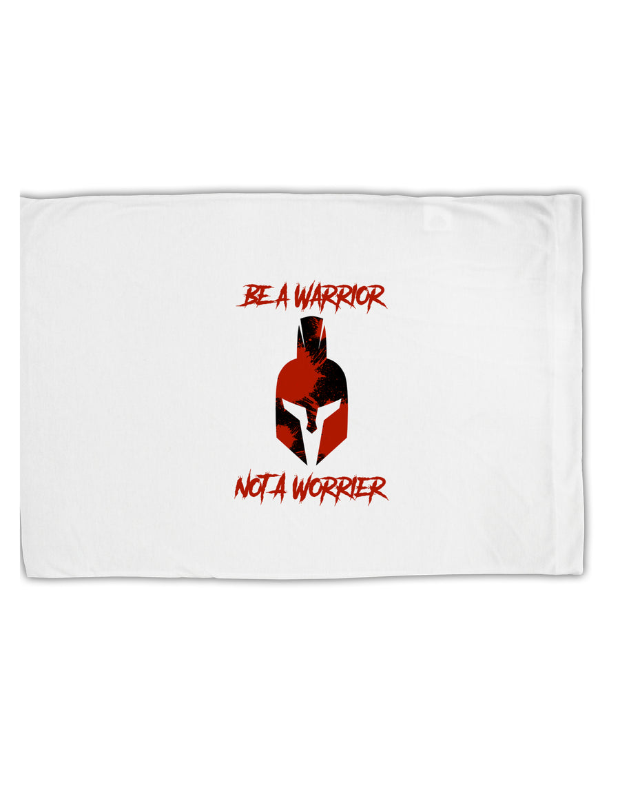 Be a Warrior Not a Worrier Standard Size Polyester Pillow Case by TooLoud