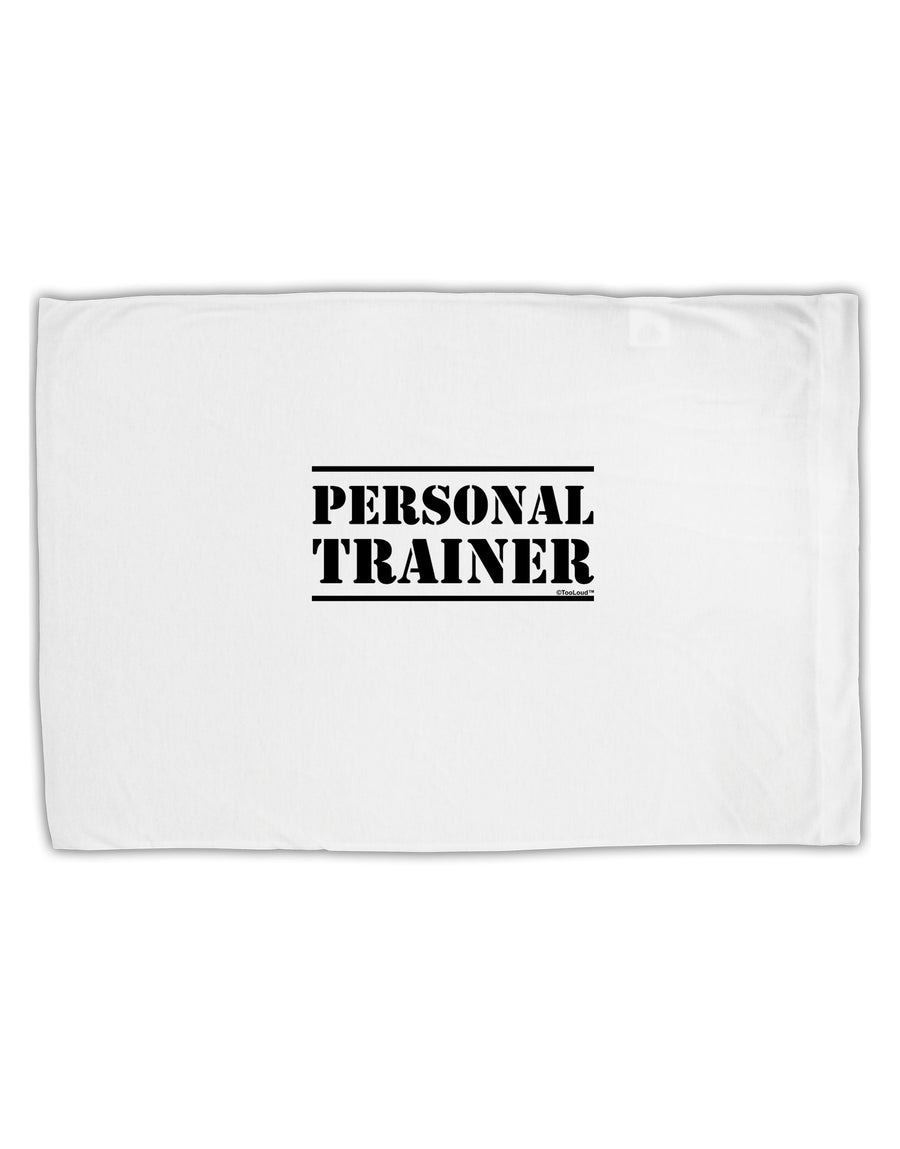 TooLoud Personal Trainer Military Text  Standard Size Polyester Pillow