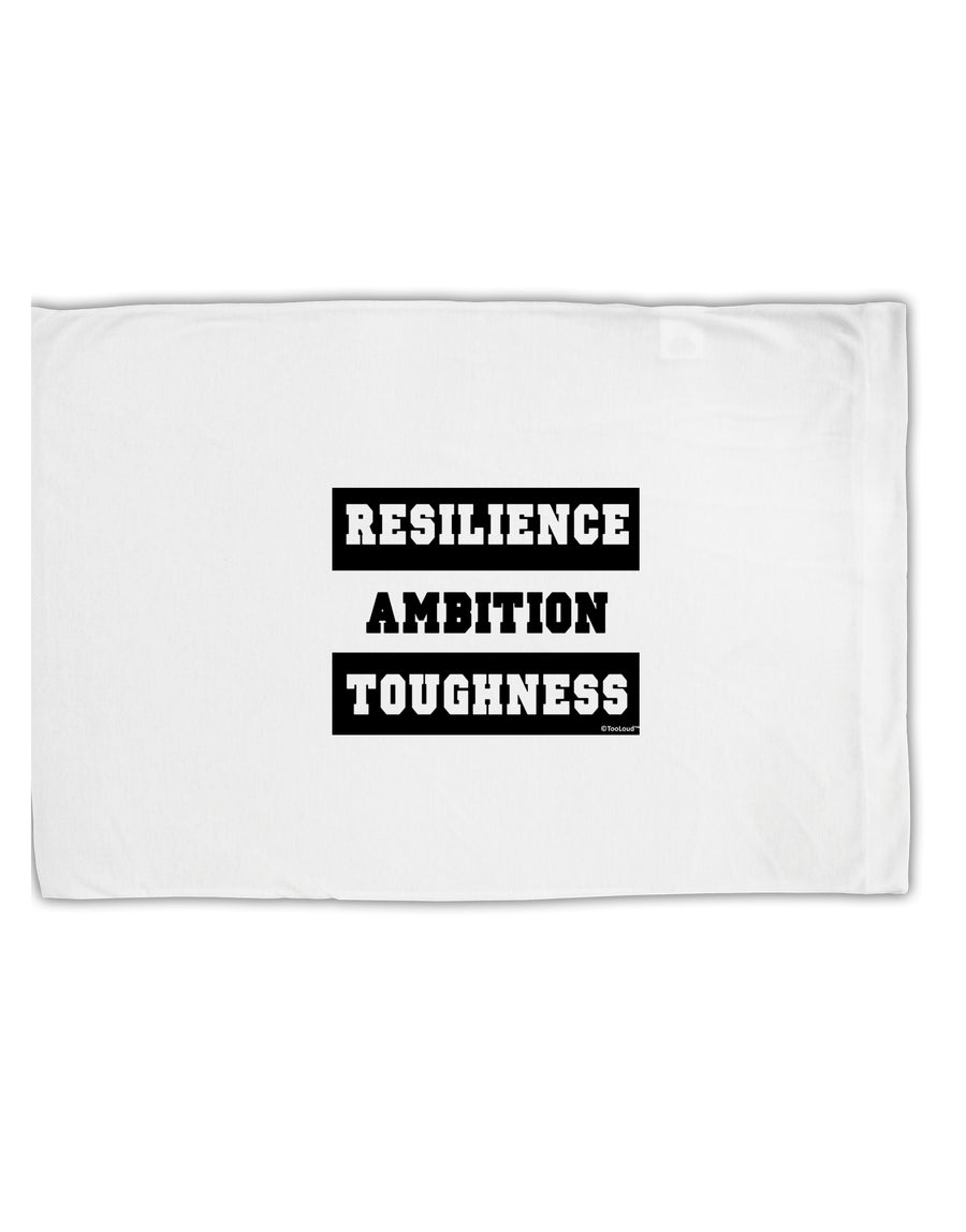 TooLoud RESILIENCE AMBITION TOUGHNESS Standard Size Polyester Pillow C