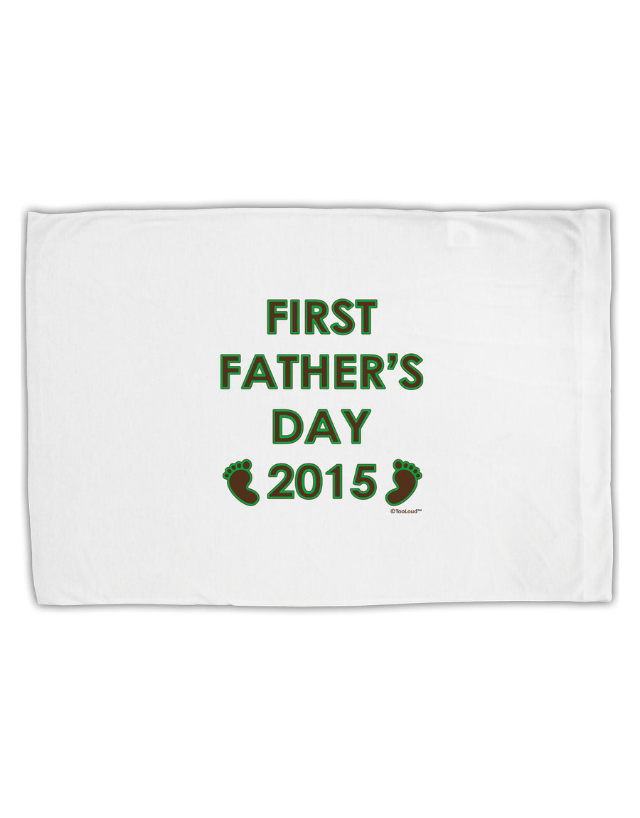 First Father's Day 2015 Standard Size Polyester Pillow Case