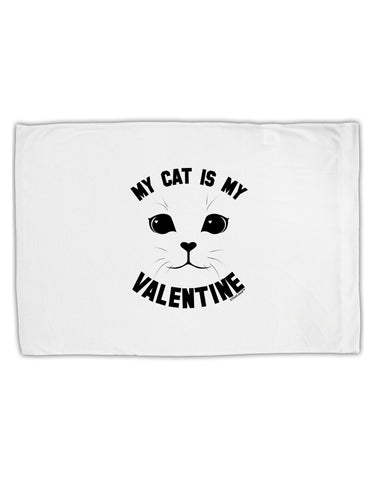 My Cat is my Valentine Standard Size Polyester Pillow Case by TooLoud