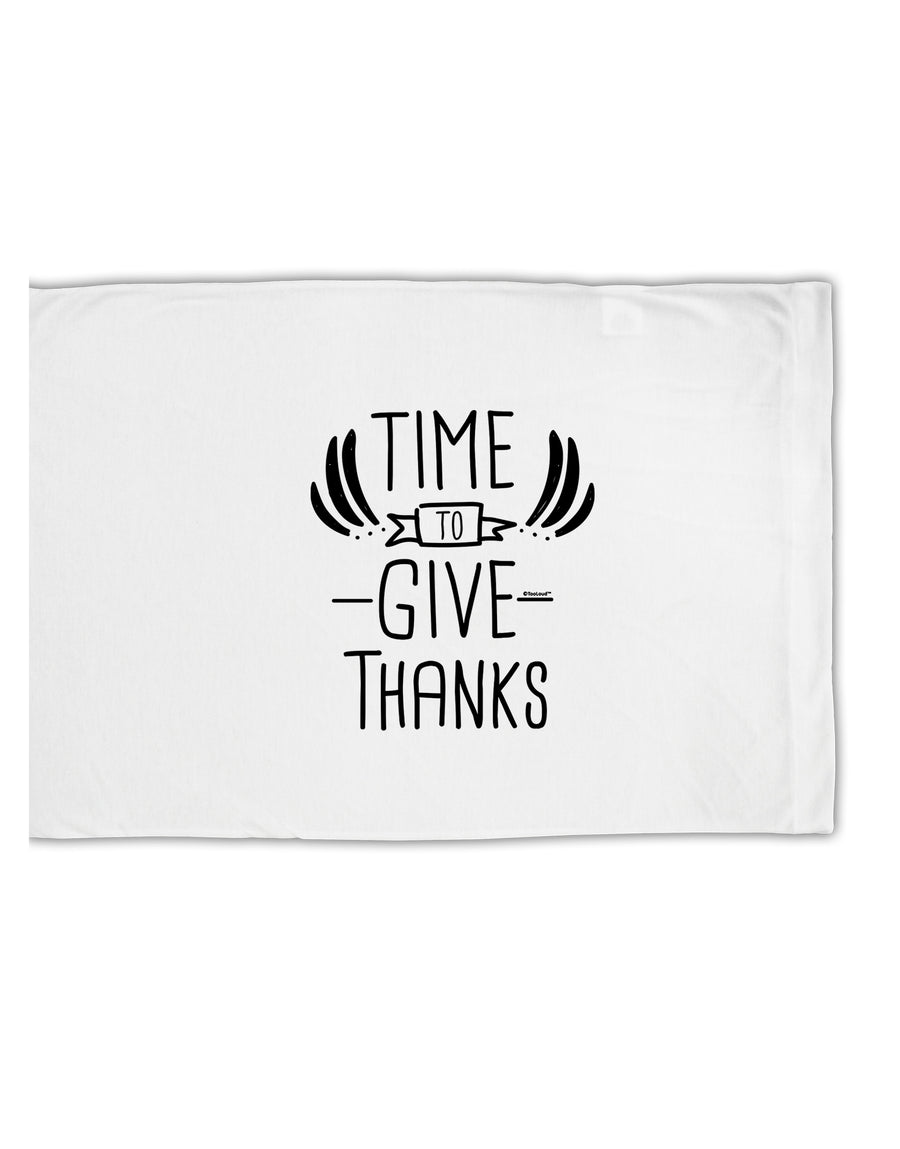 TooLoud Time to Give Thanks Standard Size Polyester Pillow Case