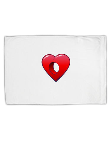 Hole Heartedly Broken Heart Standard Size Polyester Pillow Case by TooLoud