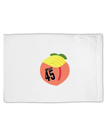 Impeach Peach Trump Standard Size Polyester Pillow Case by TooLoud