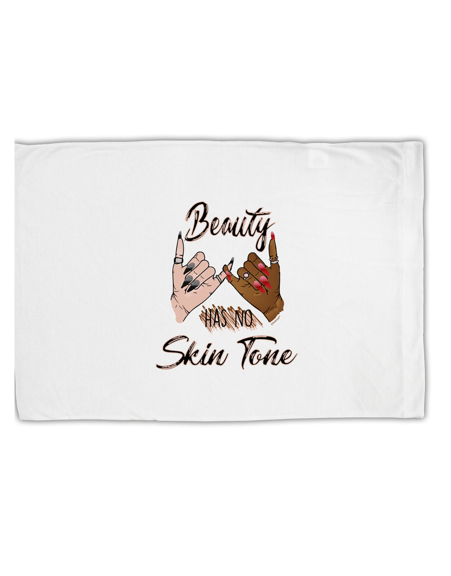TooLoud Beauty has no skin Tone Standard Size Polyester Pillow Case