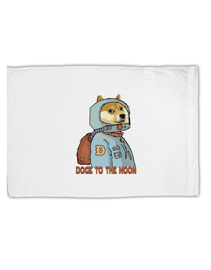 TooLoud Doge to the Moon Standard Size Polyester Pillow Case