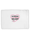 Nursing Is A Work Of Heart Standard Size Polyester Pillow Case