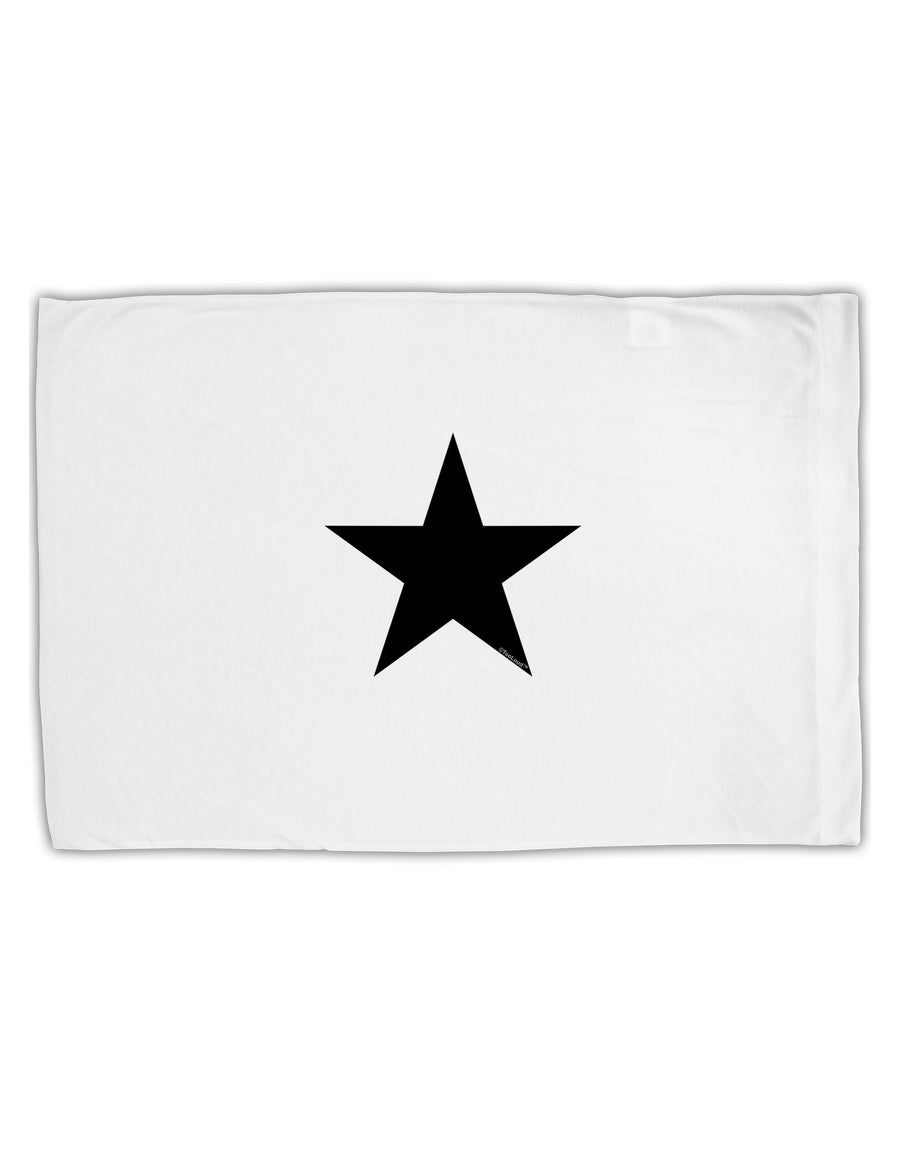 TooLoud Black Star Standard Size Polyester Pillow Case