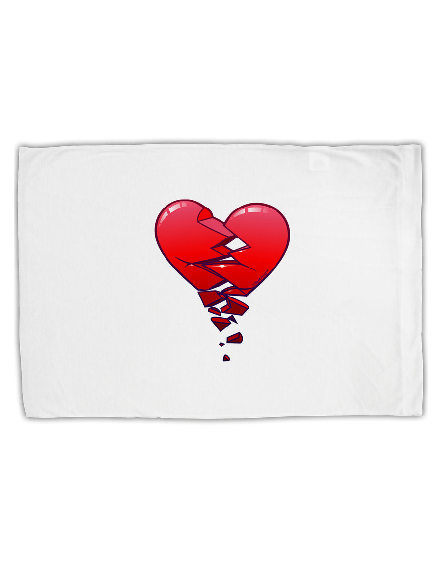 Crumbling Broken Heart Standard Size Polyester Pillow Case by TooLoud