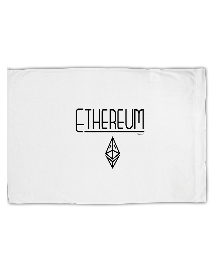 TooLoud Ethereum with logo Standard Size Polyester Pillow Case