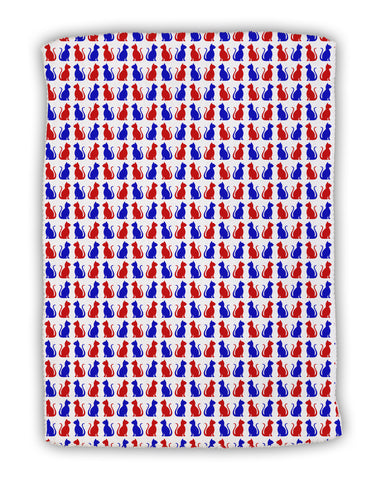 "Patriotic Cat Pattern Micro Terry Sport Towel 11""x8"" All Over Print"