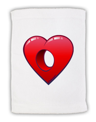"Hole Heartedly Broken Heart Micro Terry Sport Towel 11""x18 by TooLoud"