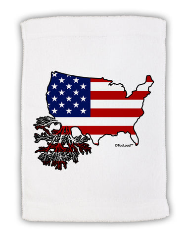 "American Roots Design - American Flag Micro Terry Sport Towel 11""x18 by TooLoud"
