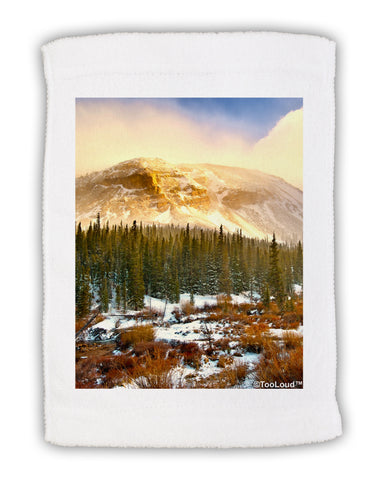 "Nature Photography - Mountain Glow Micro Terry Sport Towel 11""x18 by TooLoud"