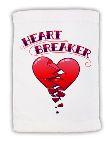 "Heart Breaker Cute Micro Terry Sport Towel 11""x18 by TooLoud"