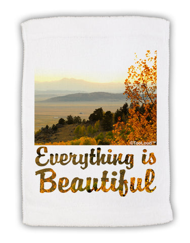 "Everything is Beautiful - Sunrise Micro Terry Sport Towel 11""x18 by TooLoud"