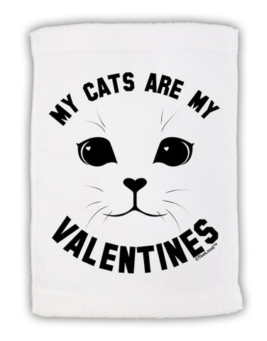 "My Cats are my Valentines Micro Terry Sport Towel 11""x18 by TooLoud"
