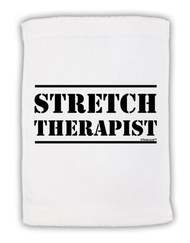 "Stretch Therapist Text Micro Terry Sport Towel 11""x18 by TooLoud"