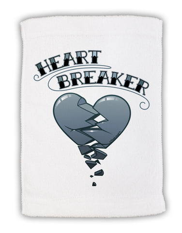"Heart Breaker Manly Micro Terry Sport Towel 11""x18 by TooLoud"