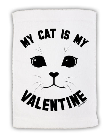 "My Cat is my Valentine Micro Terry Sport Towel 11""x18 by TooLoud"