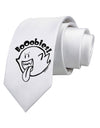 Booobies Printed White Neck Tie Tooloud