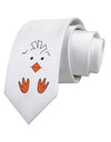 Cute Easter Chick Face Printed White Neck Tie Tooloud