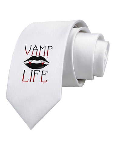 TooLoud Vamp Life Printed White Neck Tie