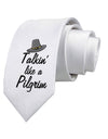 Talkin Like a Pilgrim Printed White Neck Tie Tooloud