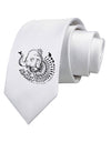Save the Asian Elephants Printed White Neck Tie Tooloud