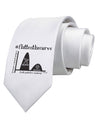 Flatten the Curve Graph Printed White Neck Tie Tooloud