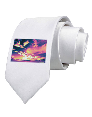 Blue Mesa Reservoir Surreal Printed White Necktie