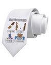 Corona Virus Precautions  Printed White Neck Tie Tooloud