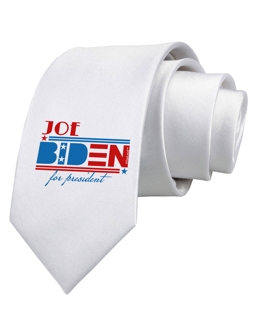 Joe Biden for President Printed White Neck Tie Tooloud