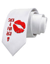 Such a Fun Age Kiss Lips Printed White Neck Tie Tooloud