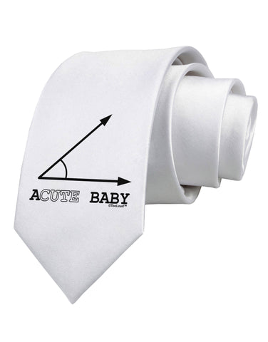 Acute Baby Printed White Necktie