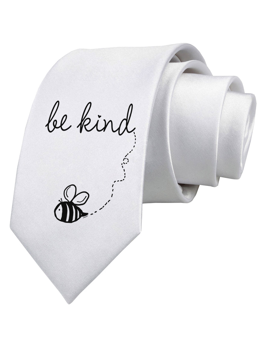 Be Kind Printed White Neck Tie Tooloud