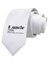 Funcle - Fun Uncle Printed White Neck Tie by TooLoud