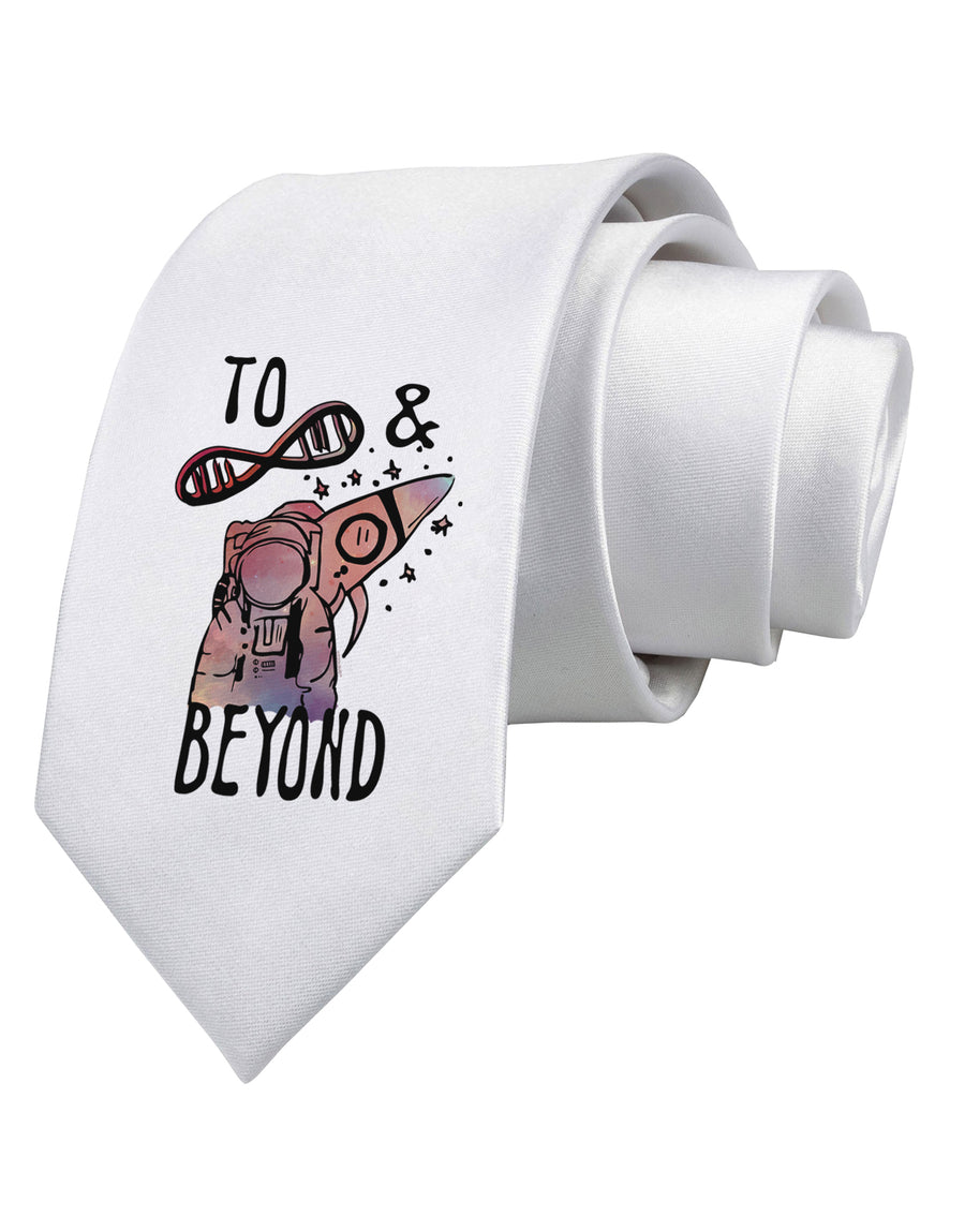 To infinity and beyond Printed White Neck Tie Tooloud