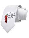 I'm a Little Chilli Printed White Neck Tie Tooloud