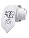 Warm Hugs Printed White Neck Tie Tooloud