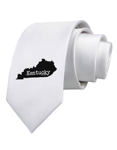 Kentucky - United States Shape Printed White Necktie by TooLoud