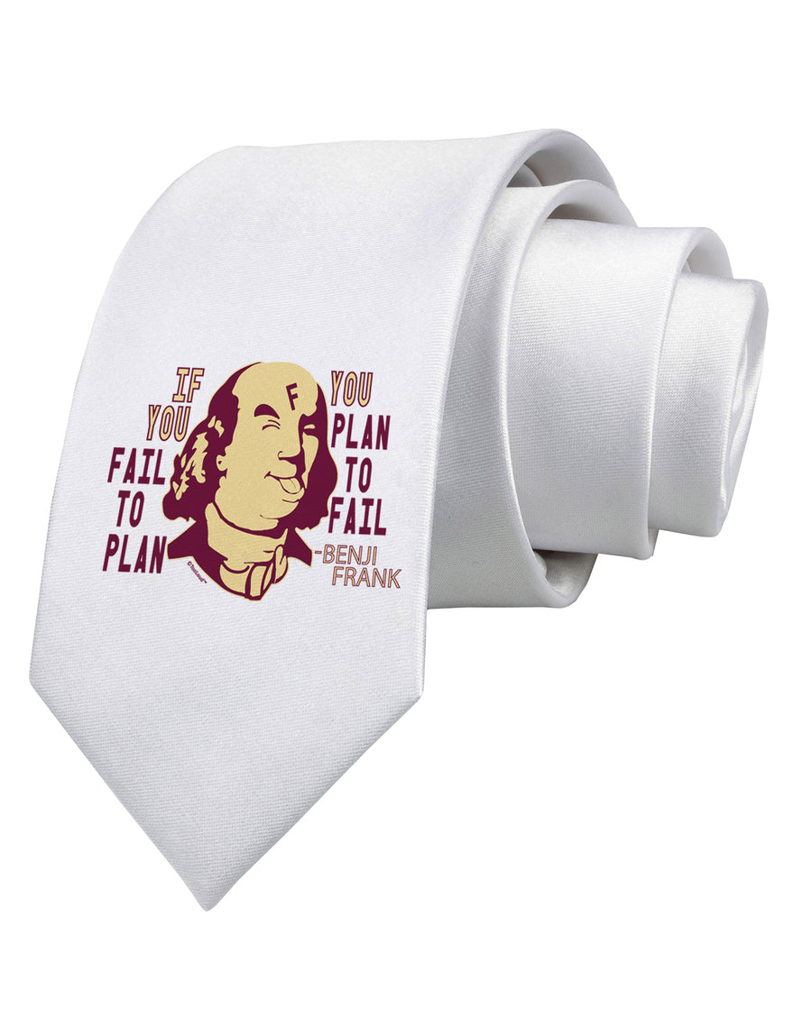 If you Fail to Plan, you Plan to Fail-Benjamin Franklin Printed White