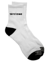 Custom Personalized Image and Text Adult Short Socks